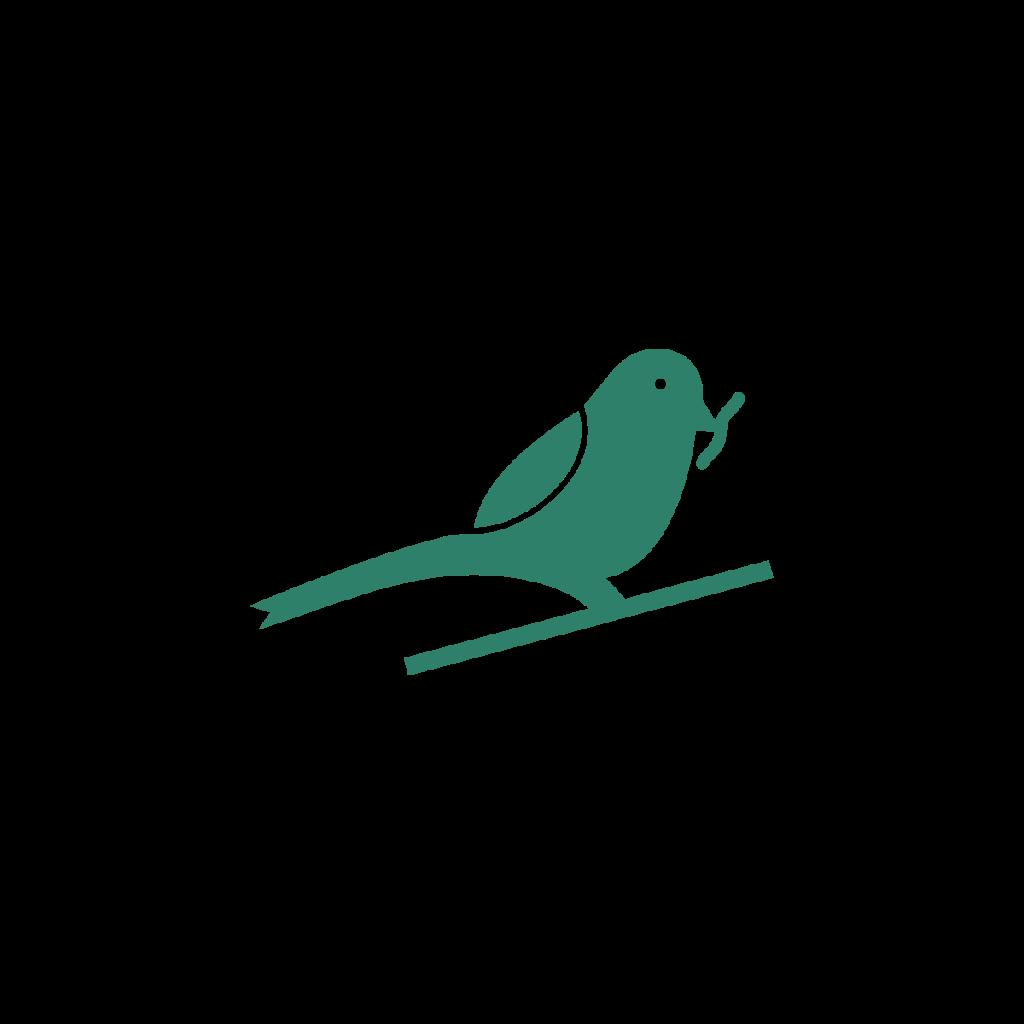 bird holding a worm
